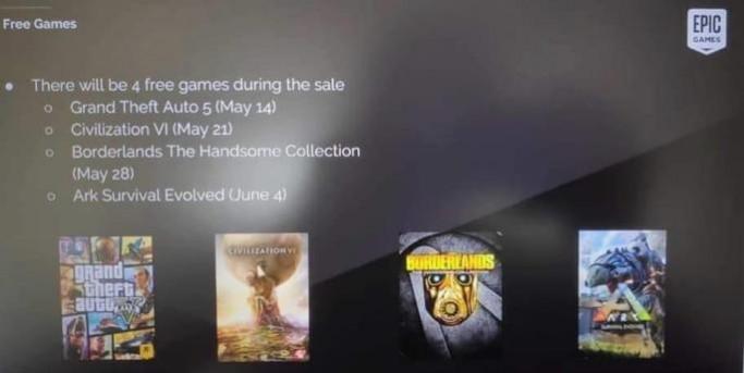 Vazamento jogos gratis Epic Games